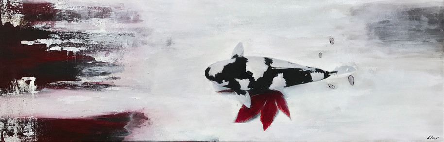 """Koy"" customer order - acrylic on canvas - 2016 - 120 x 40"
