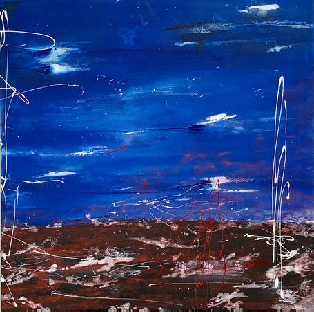 """""""Pacific III"""" acrylic on canvas - 2021 - 80 x 80 (customer order)"""