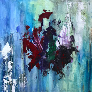"""Dragon"" acrylic on canvas - 2018 - 80 x 80"