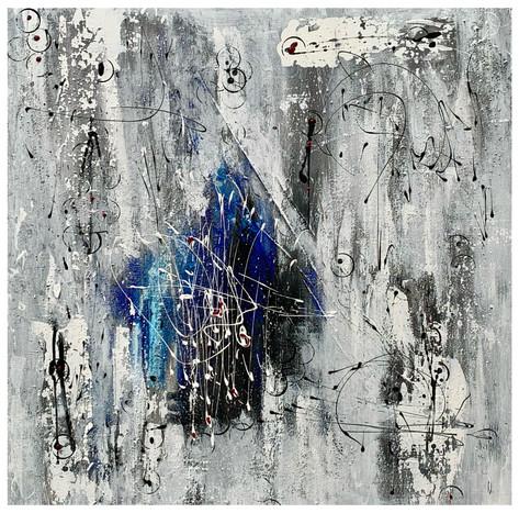 """Signs"" Acryl auf Leinwand - 2020 - 80 x 80 (vergriffen)"
