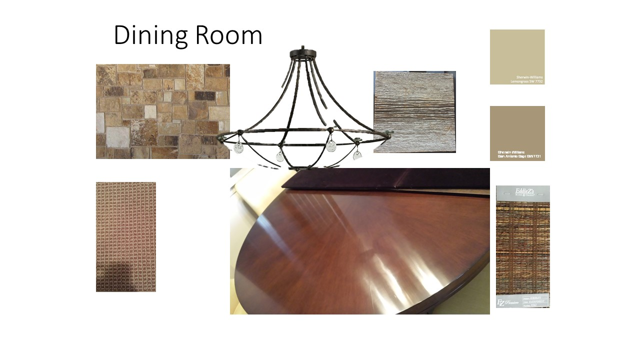 Dining Room Finish Board