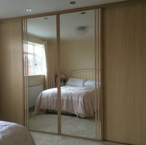 Classic wardrobe with mirror