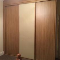 Classic wooden wardrobe