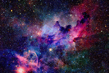 Nebula and galaxies in space. Elements o