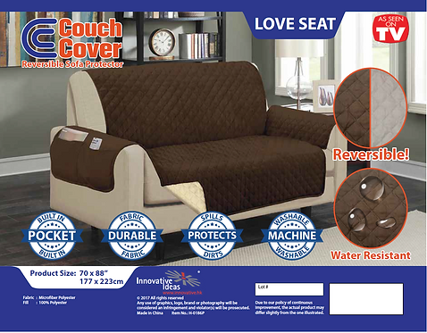 Couch Cover - Loveseat