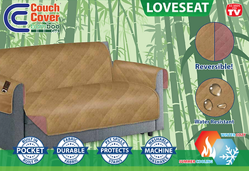 Couch Cover Bamboo Cool Loveseat (H-0287)