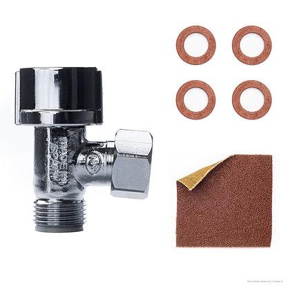 Kit robinet arrêt WC 1/4 tour 12x17 | Linstan