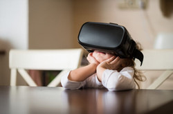Toddler with VR