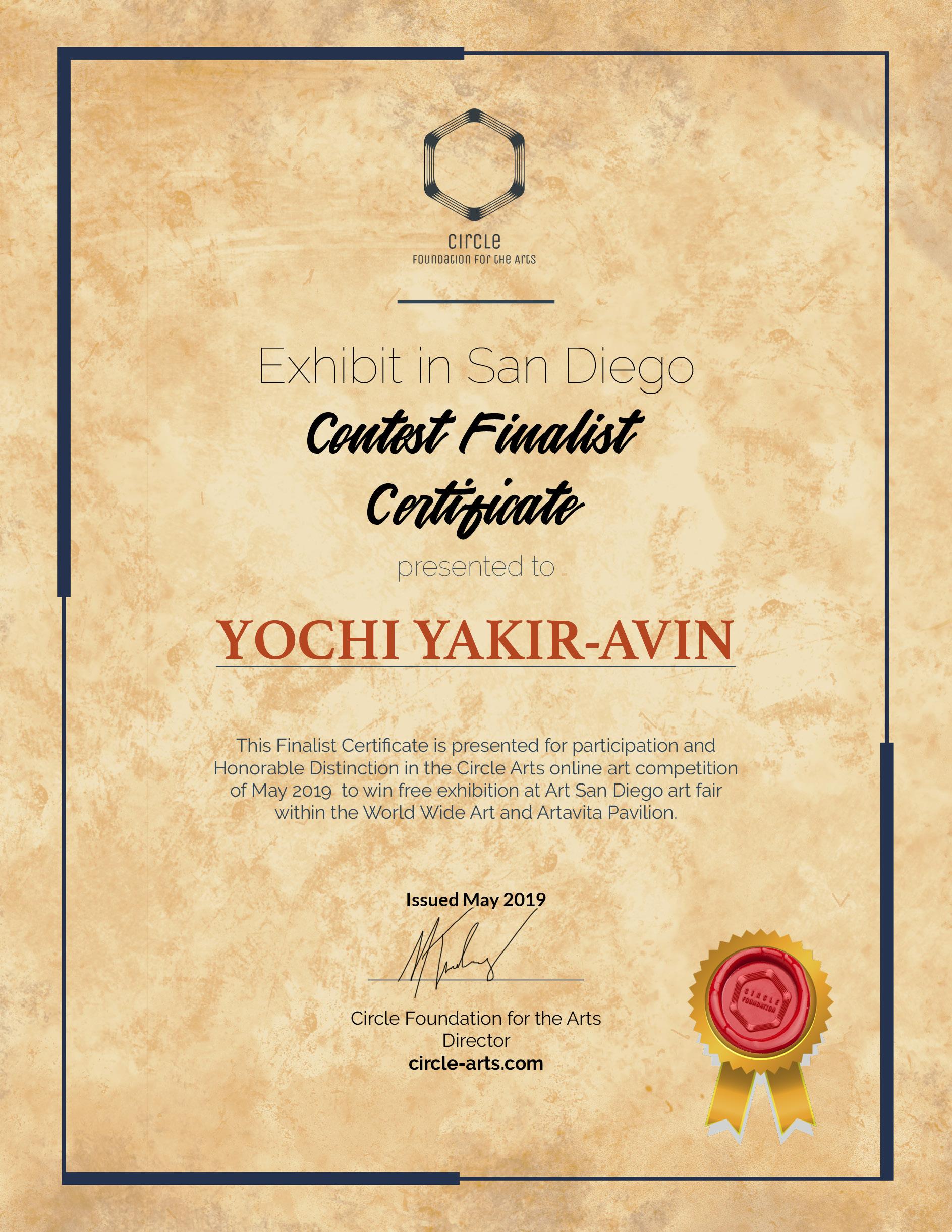 CFA-SanDiegoShow_ContestFinalist_Certifi