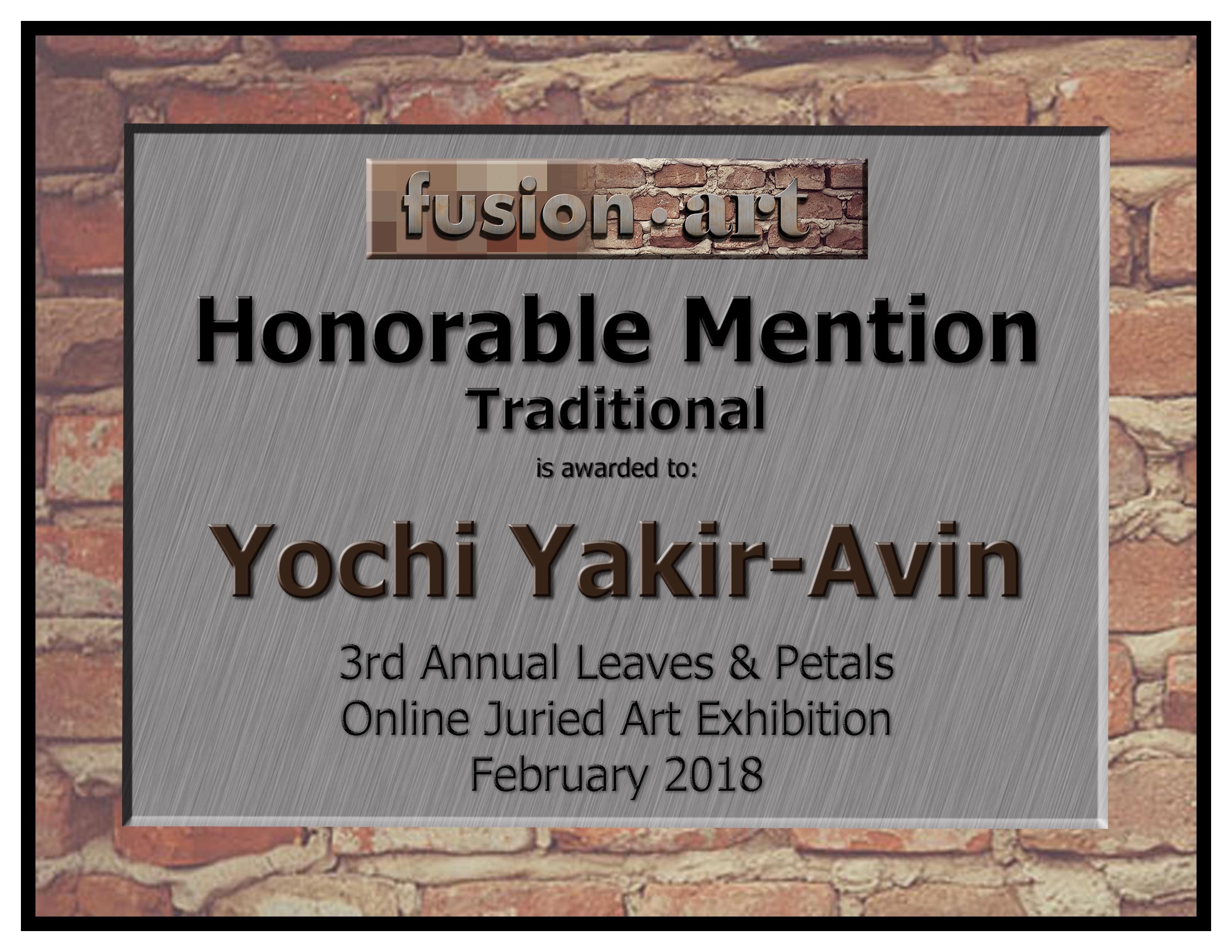 Yochi Yakir-Avin 3rd Leaves & Petals Cer