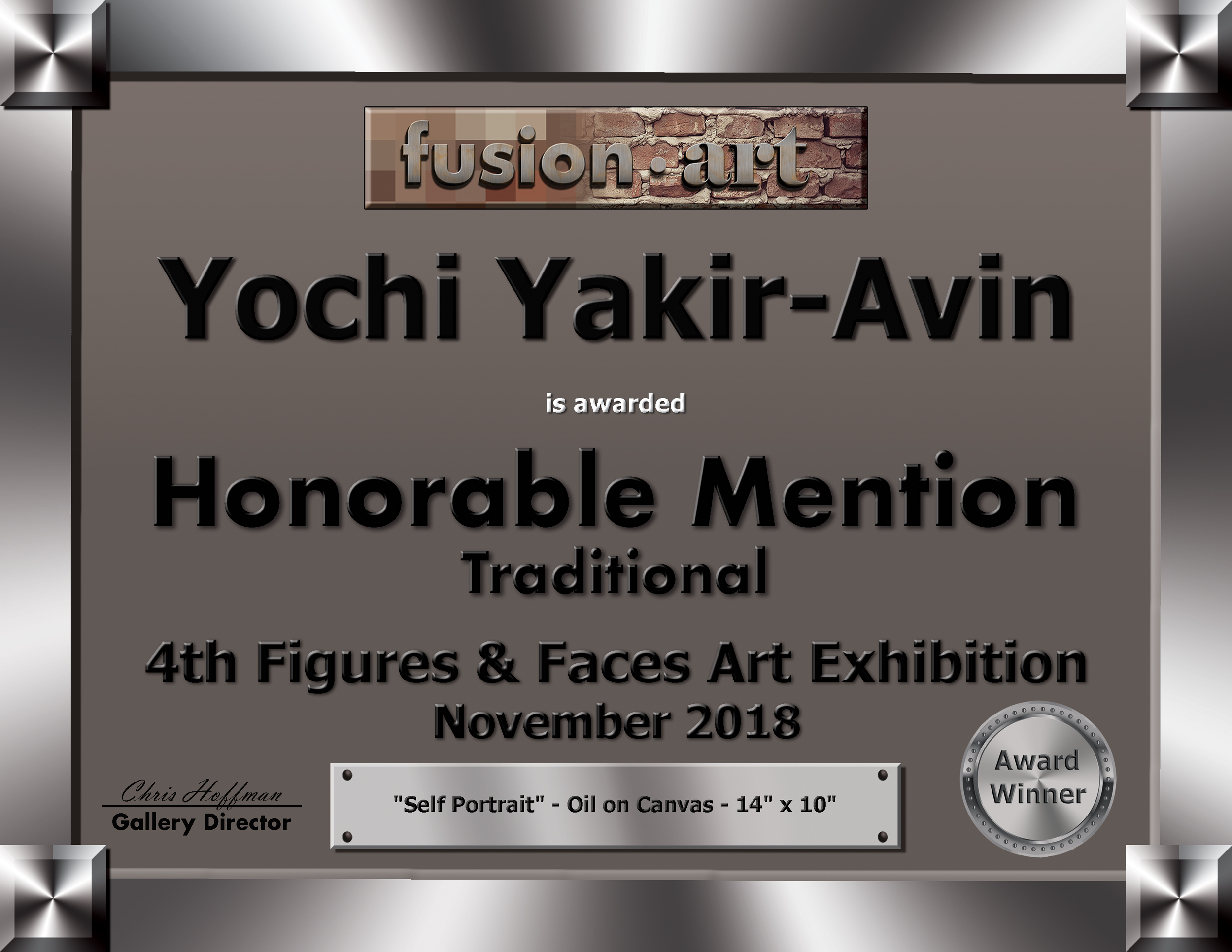 Yochi Yakir-Avin Figures & Faces Certifi