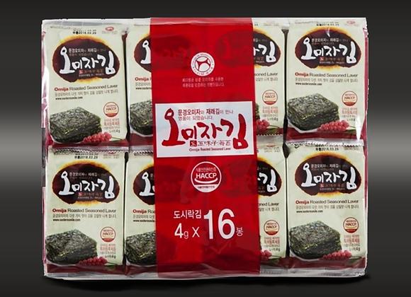 Mungyeong Halal Korean Omija Seasoned Roasted Seaweed Laver