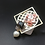Thumbnail: Pink Jade with Gold Square Abstract Pendant Brooch