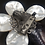Thumbnail: Marbled Grey Stone with Mother-of-Pearl Leaves Pendant Brooch