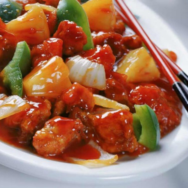 Sweet & Sour Crispy Chicken Hong Kong Style