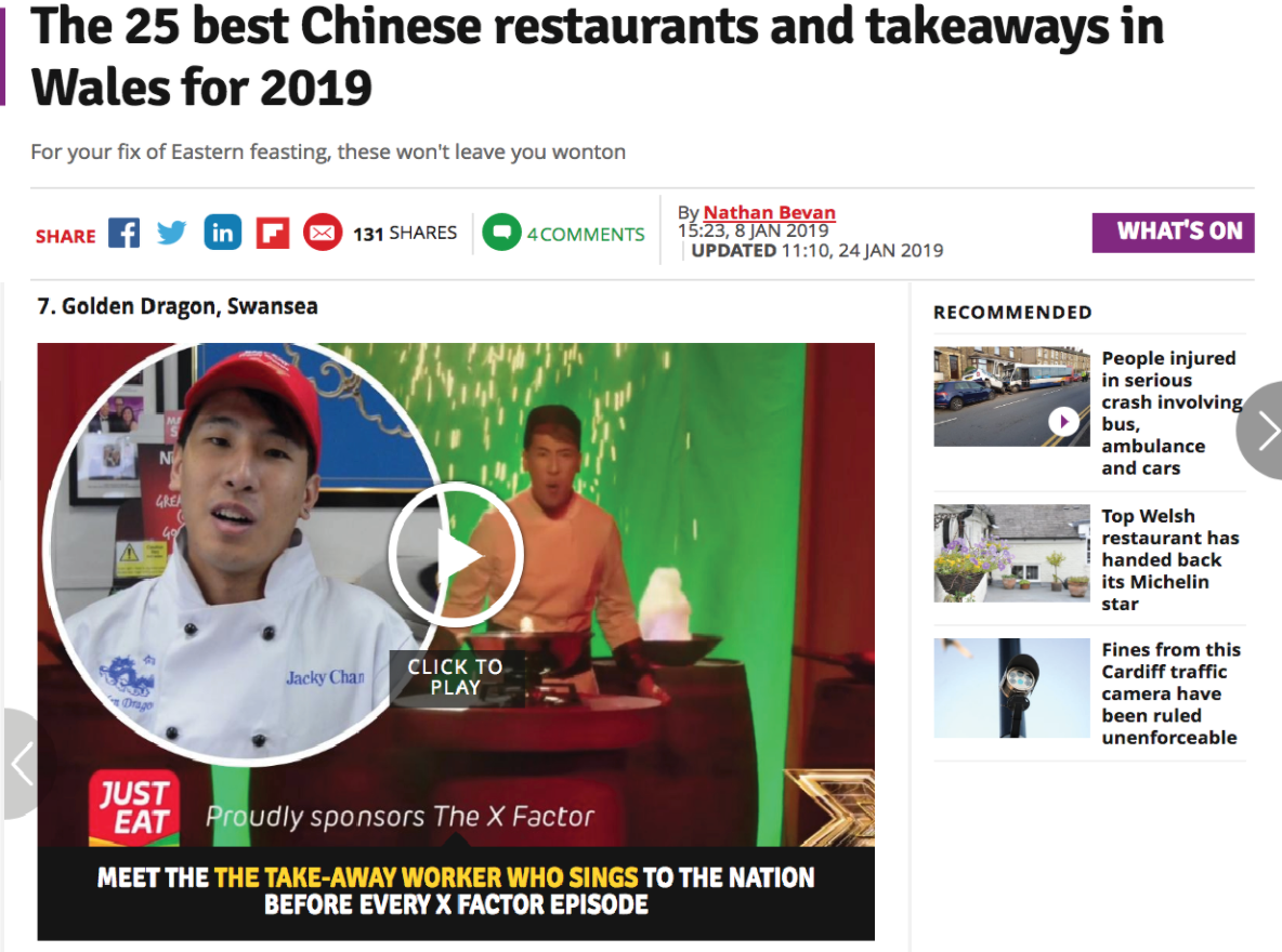 Wales Online's 25 Best Chinese