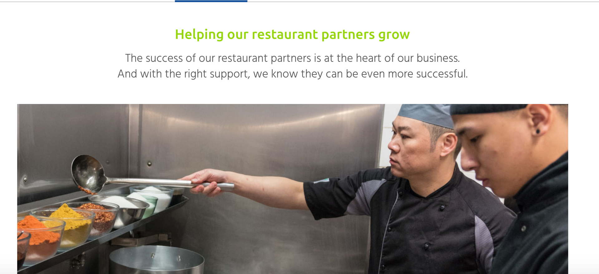 Just Eat helping partners grow