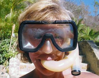 kathy snorkeling puerto vallarta