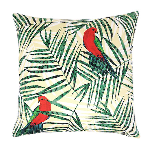 Red King Parrots Cushion