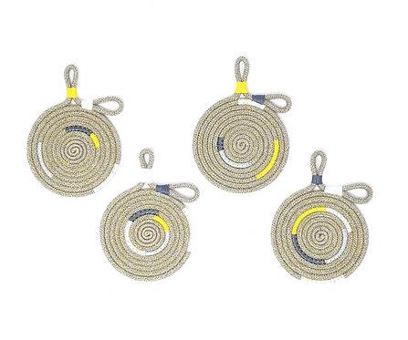 Double Loop Hemp Rope Coasters