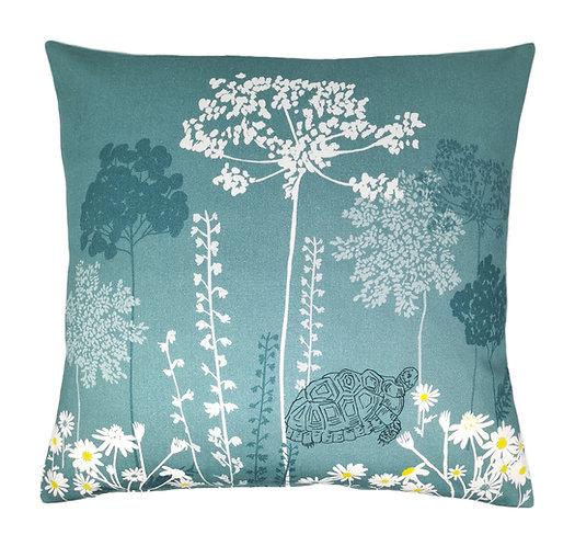 Blue Meadow Haze Cushion