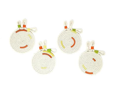 Botanical Cotton Rope Coasters