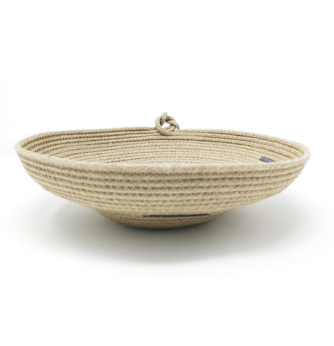 Tiered Hemp Rope Bowl - Knot Finish