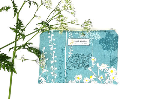 Blue Meadow Haze Cosmetic Pouch