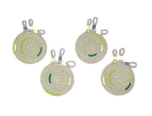 Botanical Hemp Coasters