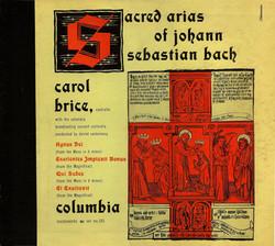 Recording: Sacred Arias of J.S. Bach