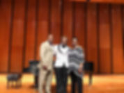Southeastern Region Scholarship Competiton Winner, Elliott Brown, tenor (center), with SE Regional Director Michael Mitchell and SE Region Scolarship Chair, Levone Tobin-Scott