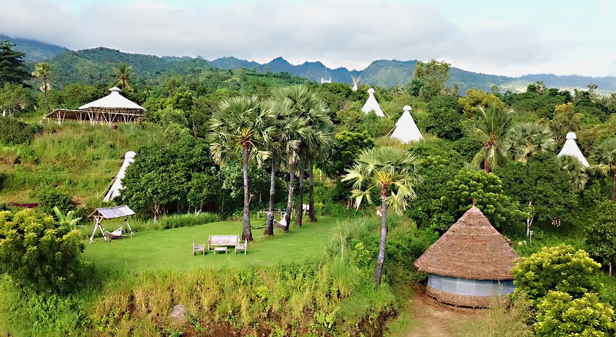 The East Bali Immersion Camp, nestled in the middle of nature