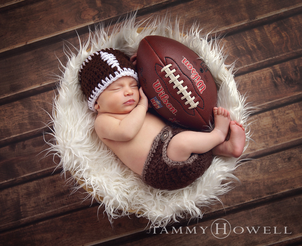 Louisville Newborn Session Football