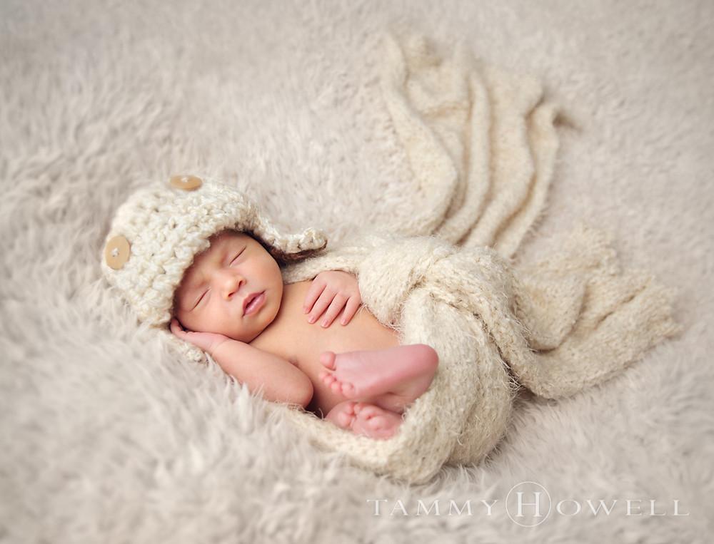Newborn Photo Aviator Hat