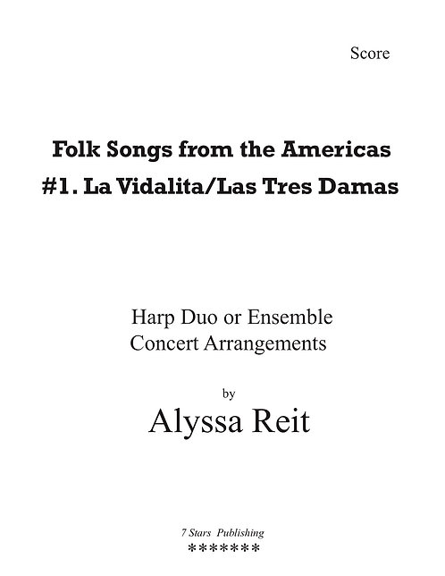 Folksongs of the Americas # I (2PedHp)
