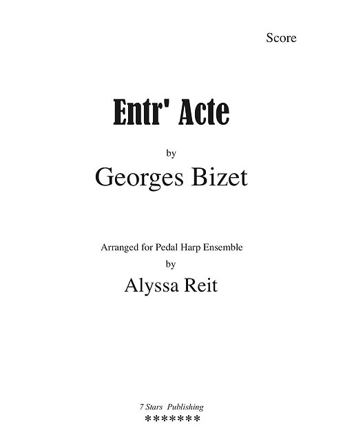 Entr'Acte - Bizet (PedHp3)