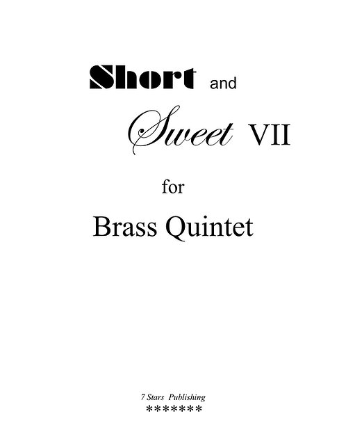 Short & Sweet VII