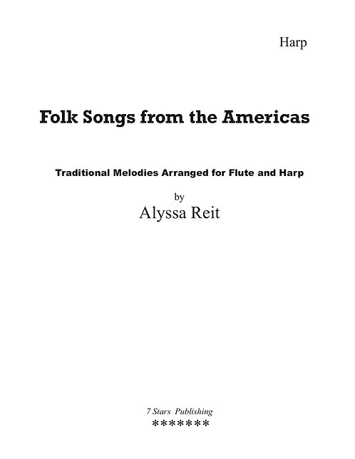 Folksongs from the Americas Vol I (Hp, Fl/Vln)