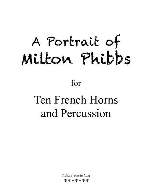 A Portrait of Milton Phibbs