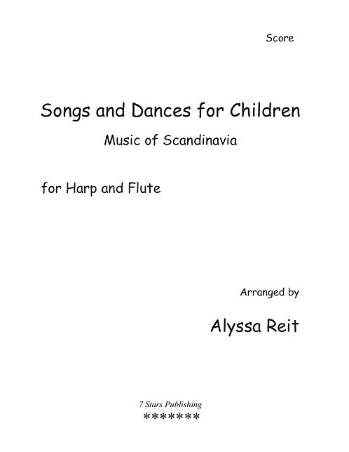 Songs and Dances for Children - Music of Scandinavia (HpFl)