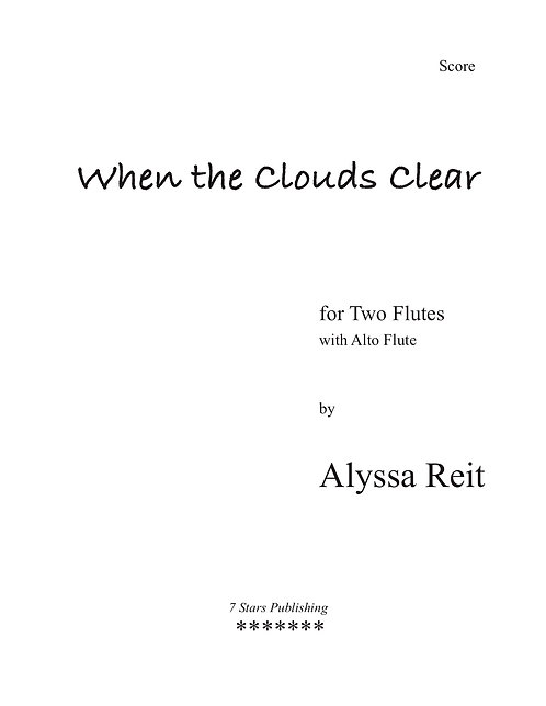 When the Clouds Clear (2Fl)