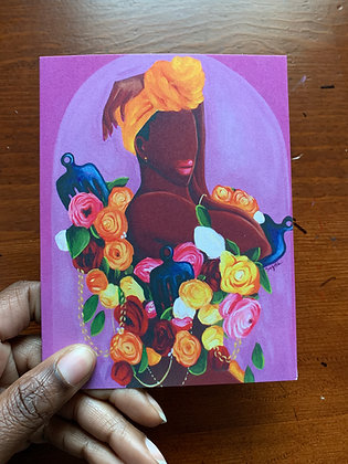 Hand Picked Note Card