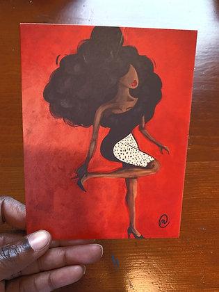 Big Hair High Heels Note Card