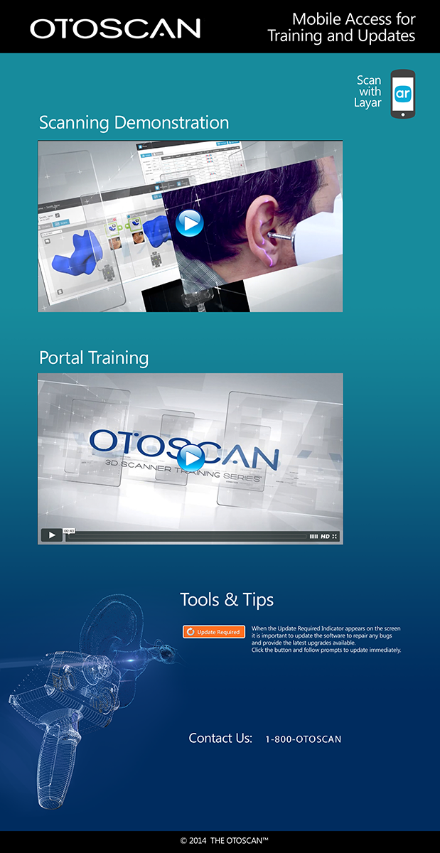 Otoscan Poster with Layar Video Demo