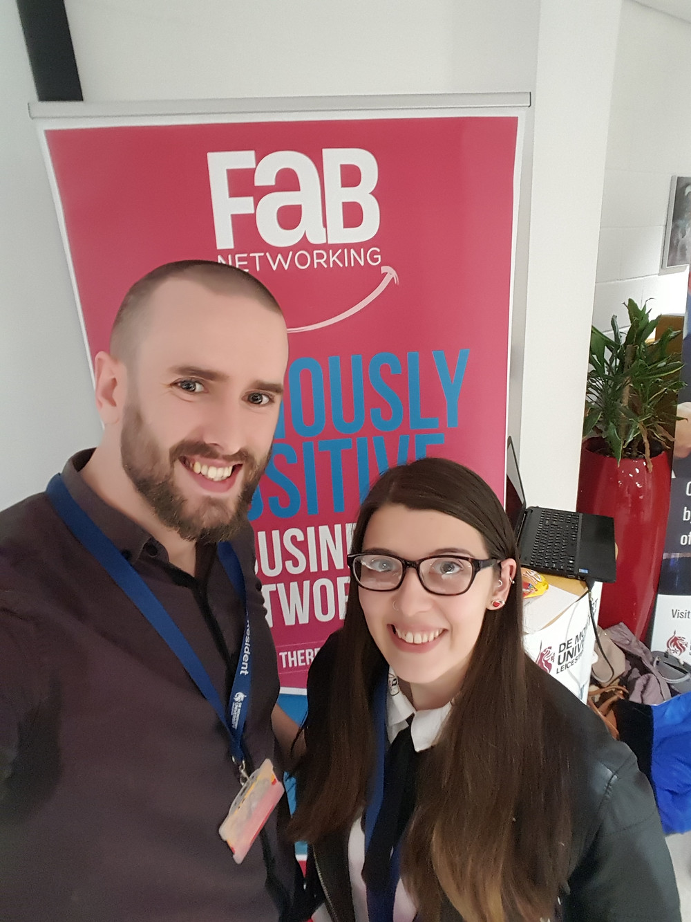 Co-Founders of animation studio Lead Balloon Studios at Fab Networking event, Leicester, UK