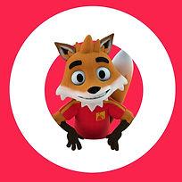 A 3D mascot called Cooper Fox from Lead Balloon Studios