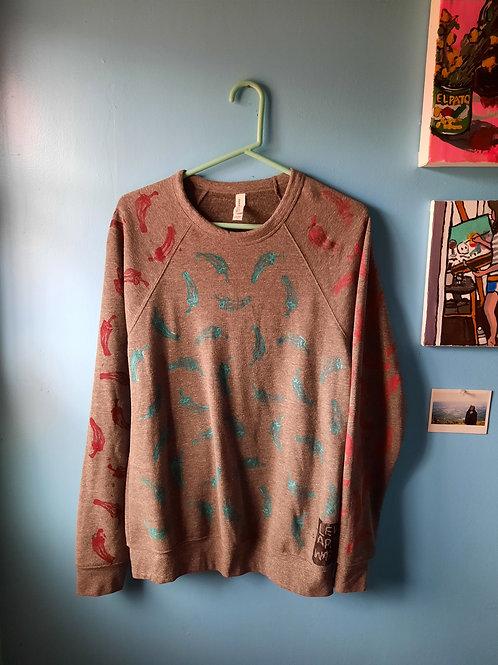 All-over print Shishito Crewneck Sweatshirt