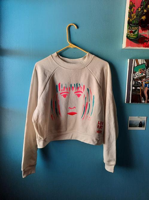 Woman's Face Crop Sweatshirt