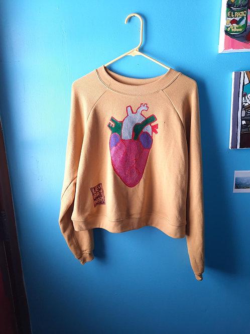 Anatomical Heart Crop Sweatshirt