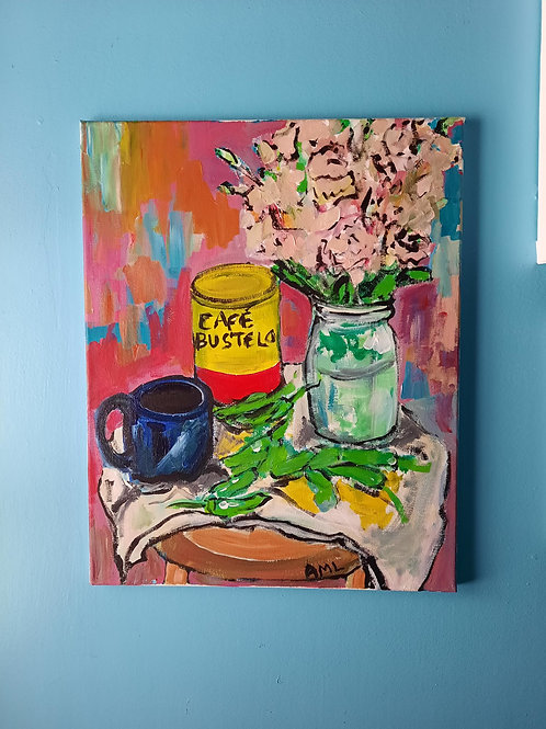 Coffee, Flowers, Shishitos